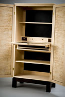 12. Writing cabinet, Rock Maple & Laminex