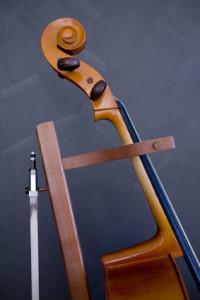 13. Cello stand. Tasmanian Myrtle