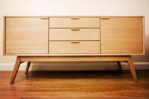 2. Retro_sideboard, White Oak