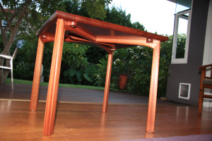 3. Dining table, Sapelle