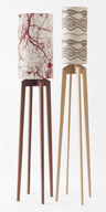 4. Mantis floorlamps in Jarrah & Silver Ash.